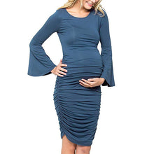 Load image into Gallery viewer, Hot Sale Maternity Long Bell Sleeve Comfy Dress