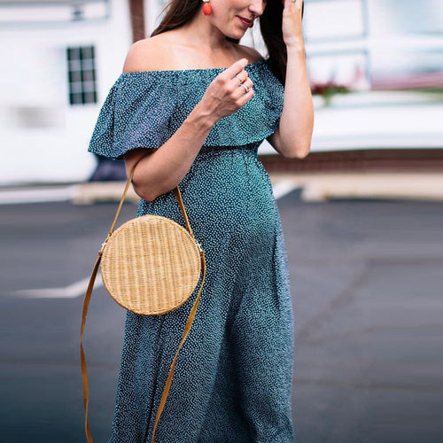 Maternity Sexy Off Shoulder Layered Sleeve Dress