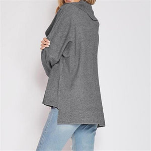 Fashion Loose Plain Long Sleeve Dust Coat Cardigan