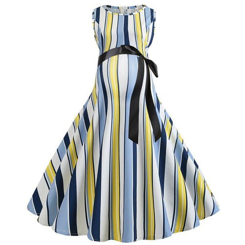Maternity Vintage Stripe  A-Line Dress