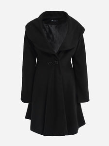 Loose Fitting Lapel Dacron Plain Coat