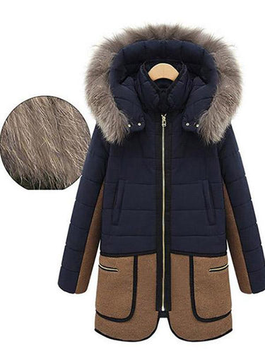 Slim Hoodie Thick Cotton Padded Long Coat Outwear