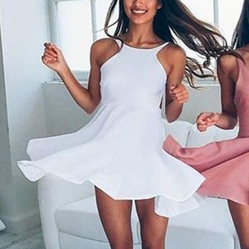 Maternity White Mini Dress