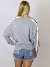 Load image into Gallery viewer, Long Sleeved Side Printed Round Neck Splice Vest Hoodies