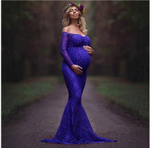 Load image into Gallery viewer, Pregnant Women Take Photo Lace Dresses
