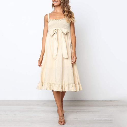 Maternity Summer Bow Dress