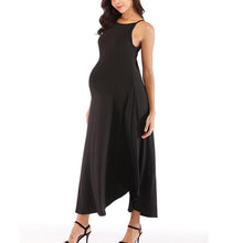 Load image into Gallery viewer, Maternity Plain Sling Strap Ankle-Length Dress