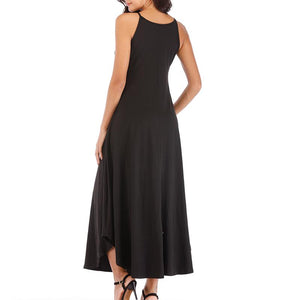 Maternity Plain Sling Strap Ankle-Length Dress