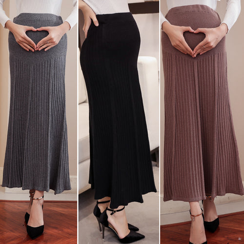 Pregnant Women Stomach Lift Loose Knit Skirt