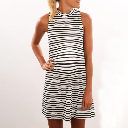 Maternity Stripe Mini Dress