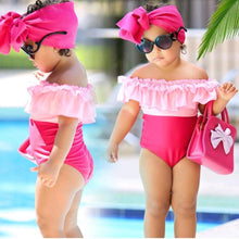 Load image into Gallery viewer, Mom Girl Off Shoulder Matching Swimwear