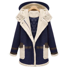 Load image into Gallery viewer, Women Soft Warm Woolen Thicker Long Hooded Overcoat Outerwear