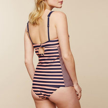Load image into Gallery viewer, Maternity Spaghetti Strap Stripe Tankini