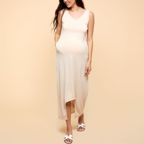 Maternity Solid Color Maxi Dress