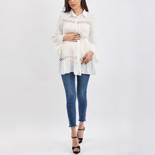 Load image into Gallery viewer, Maternity Solid Color Long Sleeve Shirt