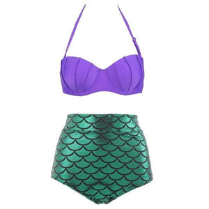 Mom Girl Matching Mermaid Swimsuit