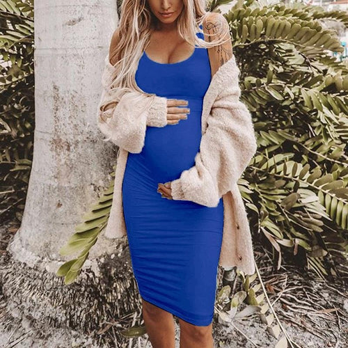 Maternity Casual Bodycon Dress