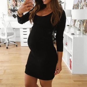 Maternity Long Sleeve Short Dress