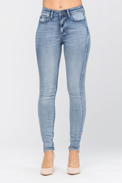 Judy Blue High Rise Heavy Hand Sand Skinny Jeans