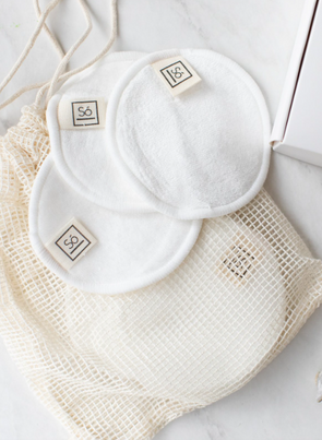 So Luxury 'Bare' Reusable Bamboo Cotton Facial Rounds
