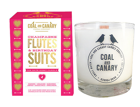 Coal and Canary 'Champagne Flutes & Birthday Suits' 8 oz Candle