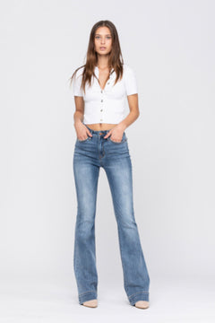 Judy Blue Mid Rise Flare Jeans