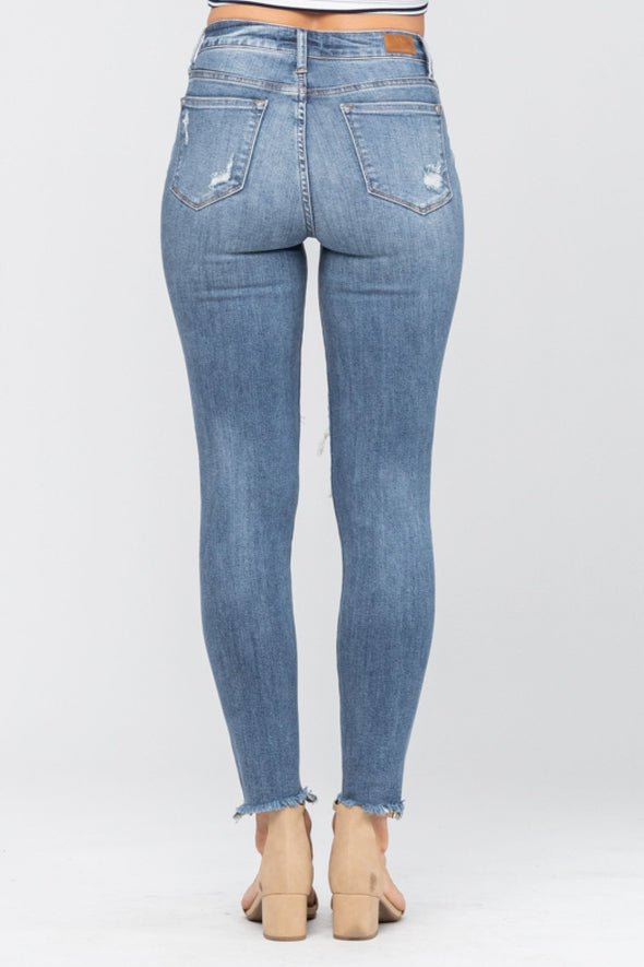 Judy Blue Distressed Knee Skinny Jeans