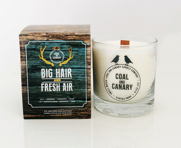 Coal and Canary 'Big Hair and Fresh Air' 8 oz Candle