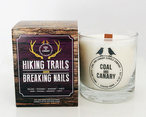 Coal and Canary 'Hiking Trails and Breaking Nails' 8 oz Candle