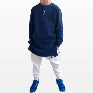 Sweat Long Bleu