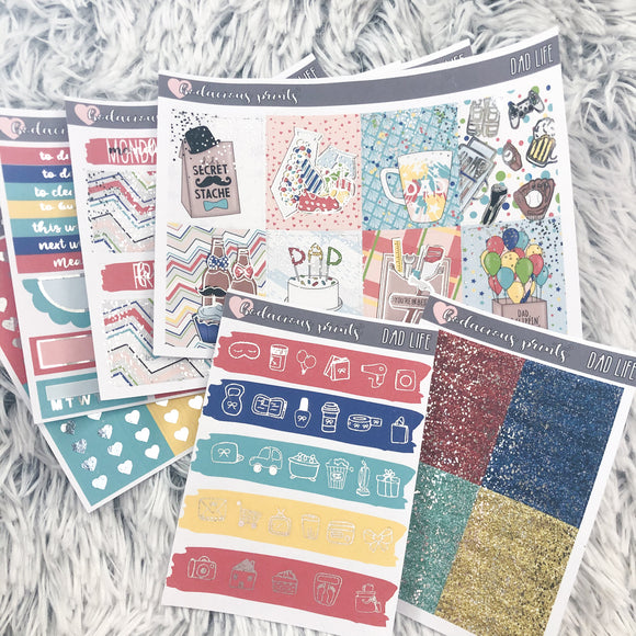 Dad Life Weekly Kit Erin Condren (Foil)
