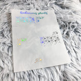 Clear Foil Confetti Heart Bundle