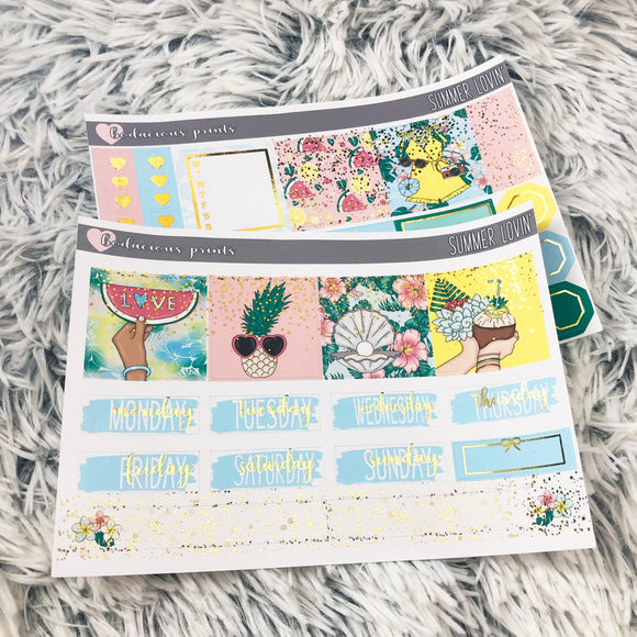 Summer Lovin' PPWeeks Weekly Kit (Foil)