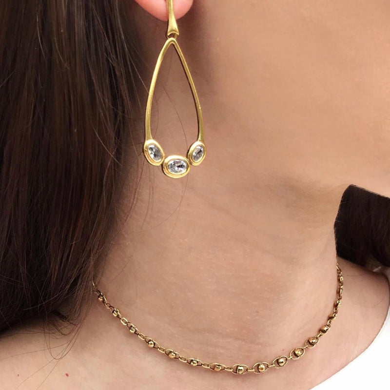 Colar chocker ouro vintage - trudys