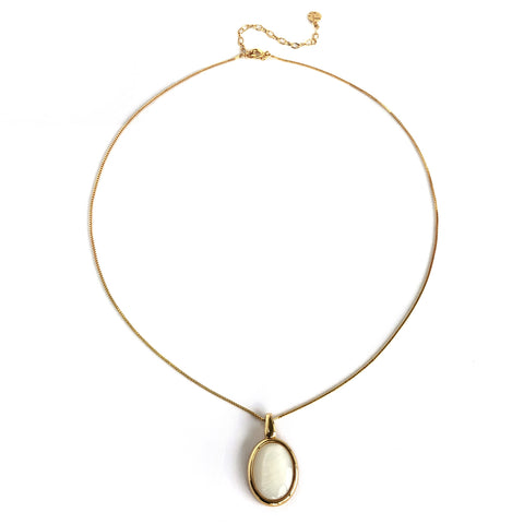 Colar ouro vintage choker cristal madre
