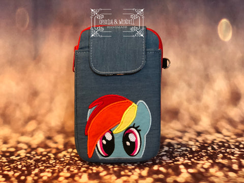 Rainbow Horse Cellphone Wallet