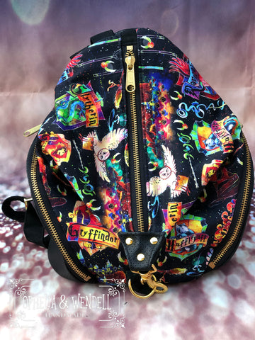 Watercolor Wizard School Backpack (Small)