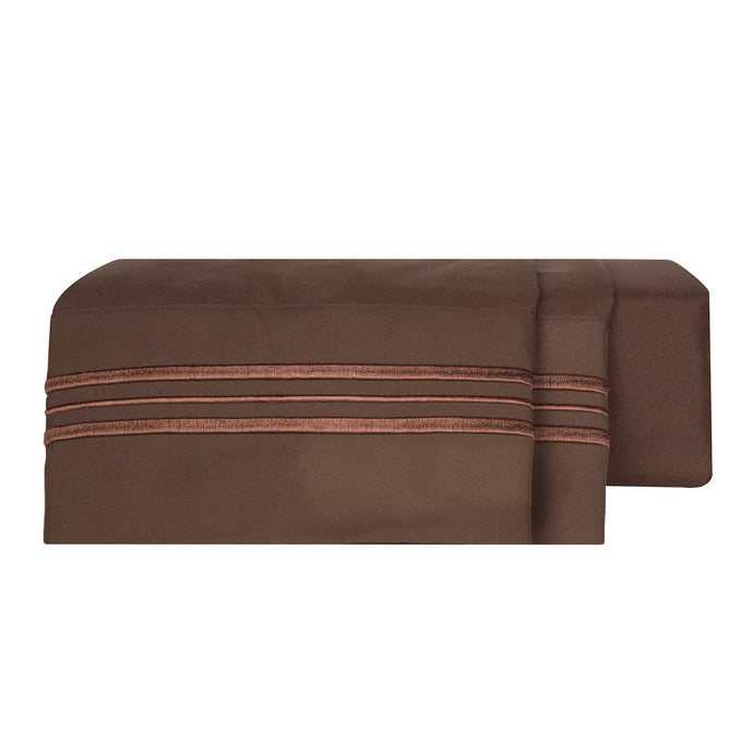 1800 Luxury Sheet Sets - Chocolate