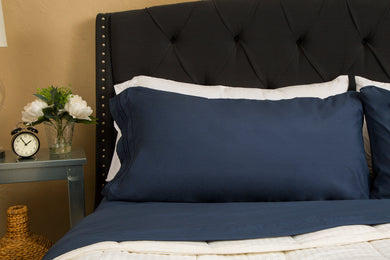 1800 Premium Duvet Cover Set - Navy Blue