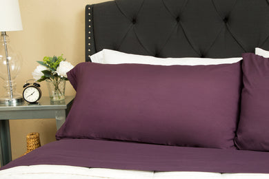 1800 Premium Duvet Cover Set - Plum