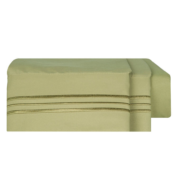 1800 Luxury Sheet Sets - Sage Green