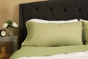1800 Premium Duvet Cover Set - Sage Green