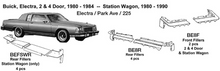 Load image into Gallery viewer, Buick Electra / Park Ave / 225: 2 & 4 Door Rear Fillers 1980 1981 1982 1983 1984  BE8R