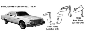 Buick Electra Rear 1/4 Panel Filler Kit 1977 1978 1979  BE7R