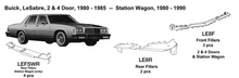 Load image into Gallery viewer, Buick LeSabre: 2 & 4 Door Rear Filler Kit 1980 1981 1982 1983 1984 1985  LE8R