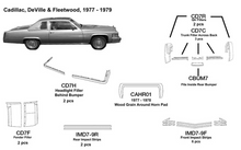 Load image into Gallery viewer, Cadillac DeVille / Fleetwood Fits Inside Rear Bumper 1977 1978 1979  CBUM7