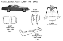 Load image into Gallery viewer, Cadillac DeVille / Fleetwood Trunk Fillers 1980 1981 1982 1983 1984 1985 1986 1987 1988 1989  CA8T