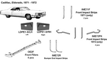 Load image into Gallery viewer, Cadillac Eldorado Front Impact Strips 1972  IME72FK