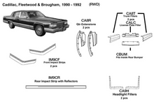 Load image into Gallery viewer, Cadillac Fleetwood / Brougham: RWD Headlight Fillers 1990 1991 1992  CA9H