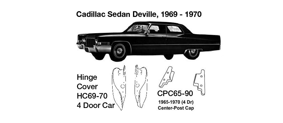 Cadillac Sedan DeVille Center Post Cap 1965 1966 1967 1968 1969 1970